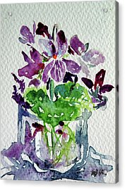 Acrylic Print featuring the painting Violet by Kovacs Anna Brigitta
