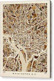 Washington Dc Street Map Acrylic Print