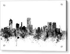 Wellington New Zealand Skyline Acrylic Print by Michael Tompsett