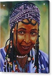 Winnie Mandela Acrylic Print by Shahid Muqaddim