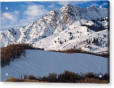 Winter In The Wasatch Mountains Of Northern Utah Acrylic Print