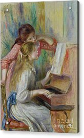 Young Girls At The Piano Acrylic Print
