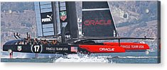 Oracle America's Cup Acrylic Print by Steven Lapkin