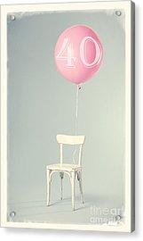 40th Birthday Acrylic Print by Edward Fielding