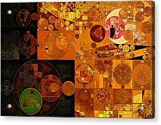 Abstract Painting - Zinnwaldite Brown Acrylic Print by Vitaliy Gladkiy