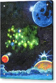 420 Space Acrylic Print by Charles Bickel