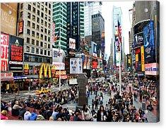42nd Street In New York City Acrylic Print