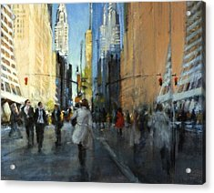 42nd Street Reflections Acrylic Print