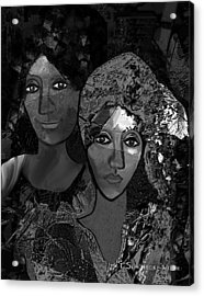 Acrylic Print featuring the digital art 452 - Secrets Of Friendship by Irmgard Schoendorf Welch