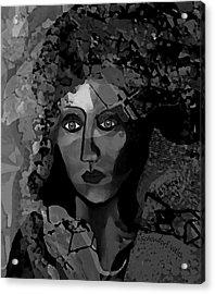 Acrylic Print featuring the digital art 455 - Dark Dreamer by Irmgard Schoendorf Welch