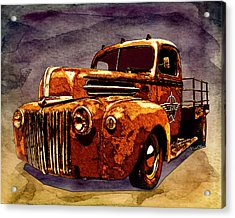 46 Ford Flatbed Redux From The Laboratories At Vivachas Acrylic Print