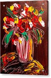 Flowers Acrylic Print by Mark Kazav