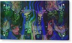 484  Feline  People  B Acrylic Print