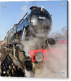 48624 Steam Locomotive Acrylic Print by Steev Stamford
