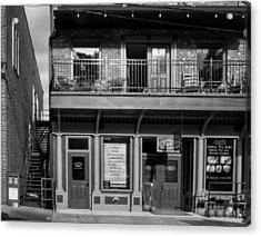 494 E Main Street In Black And White Acrylic Print