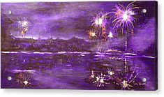 4rh Of July Celebration Acrylic Print by Terry Honstead