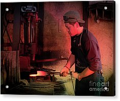 4th Generation Blacksmith, Miki City Japan Acrylic Print