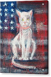 4th Of July Baby Acrylic Print by Roxanna Finch