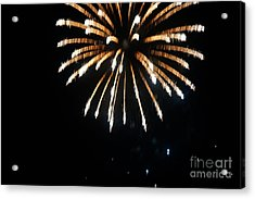4th Of July Fireworks Acrylic Print by Celestial Images