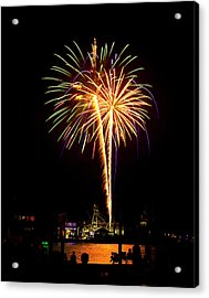Acrylic Print featuring the photograph 4th Of July Fireworks by Bill Barber