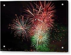 4th Of July Fireworks Display Portland Oregon Acrylic Print by David Gn