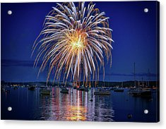 Acrylic Print featuring the photograph 4th Of July Fireworks by Rick Berk