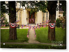 Acrylic Print featuring the photograph 4th Of July Home by Craig J Satterlee