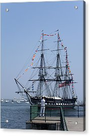 4th Of July Turnaround Uss Constitution Castle Island South Boston Ma Acrylic Print