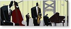 4th Street Bridge Quartet  Acrylic Print by Darryl Daniels