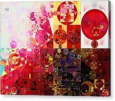 Abstract Painting - Dark Sienna Acrylic Print by Vitaliy Gladkiy