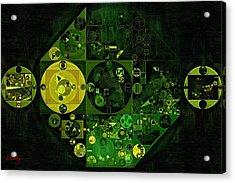 Abstract Painting - Lincoln Green Acrylic Print by Vitaliy Gladkiy
