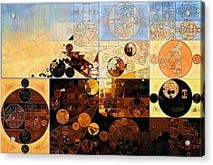 Abstract Painting - Rustic Red Acrylic Print by Vitaliy Gladkiy