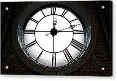 Antique Backlit Clock Acrylic Print