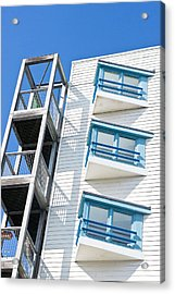 Apartments Acrylic Print by Tom Gowanlock