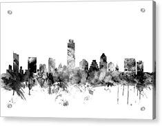 Austin Texas Skyline Acrylic Print by Michael Tompsett