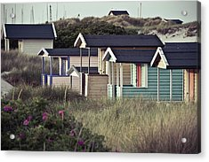 Beach Houses And Dunes Acrylic Print