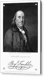 Benjamin Franklin Acrylic Print by Granger