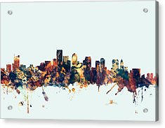 Boston Massachusetts Skyline Acrylic Print by Michael Tompsett