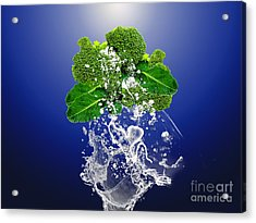 Broccoli Splash Acrylic Print