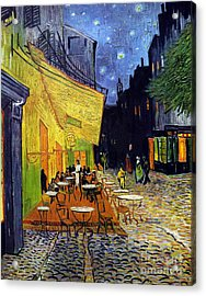 Cafe Terrace At Night  Acrylic Print
