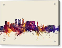 Cape Town South Africa Skyline Acrylic Print