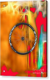 Carbon Fiber Bicycle Wheel Collection Acrylic Print by Marvin Blaine