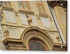 Church Texture In Rome Acrylic Print by JAMART Photography