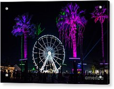 Coachella Music Festival 2015 Acrylic Print by Art K