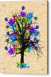 Color Tree Collection Acrylic Print