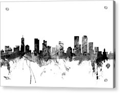 Denver Colorado Skyline Acrylic Print