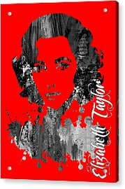 Elizabeth Taylor Collection Acrylic Print by Marvin Blaine