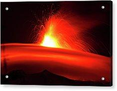 Etna, The Volcano Acrylic Print