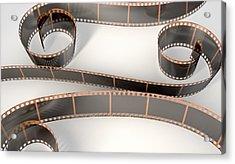 Film Strip Curled Acrylic Print
