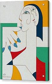 5 Fingers Acrylic Print by Hildegarde Handsaeme